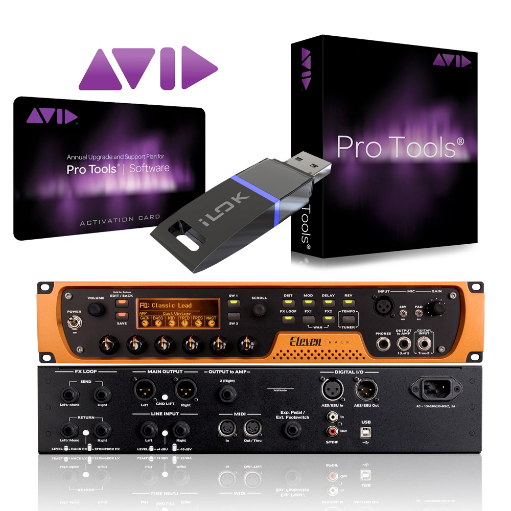 avid eleven 11 rack perpetual pro tools 2018 license 660845663473 ebay. Black Bedroom Furniture Sets. Home Design Ideas