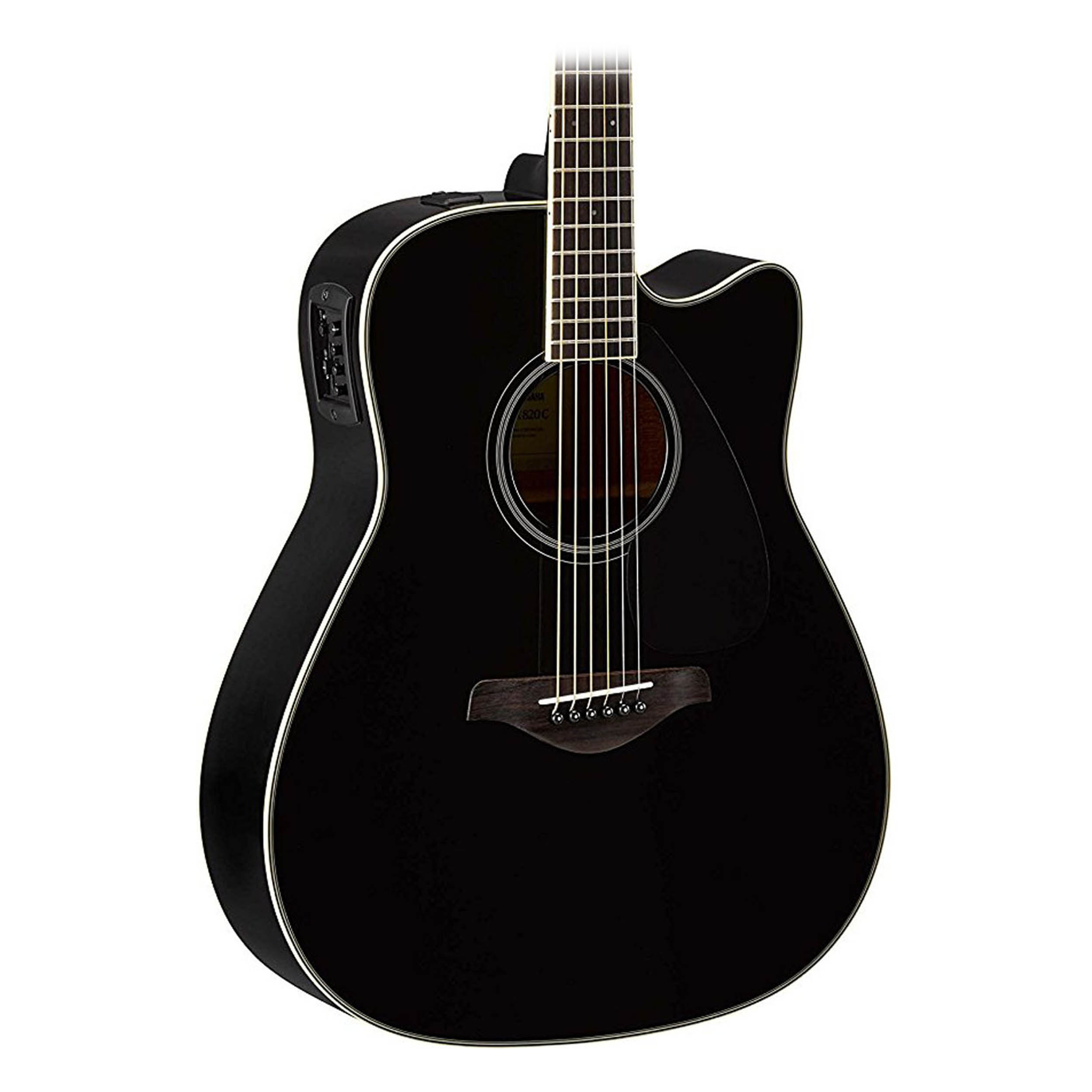 Yamaha FGX800C Acoustic-Electric Guitar in Black