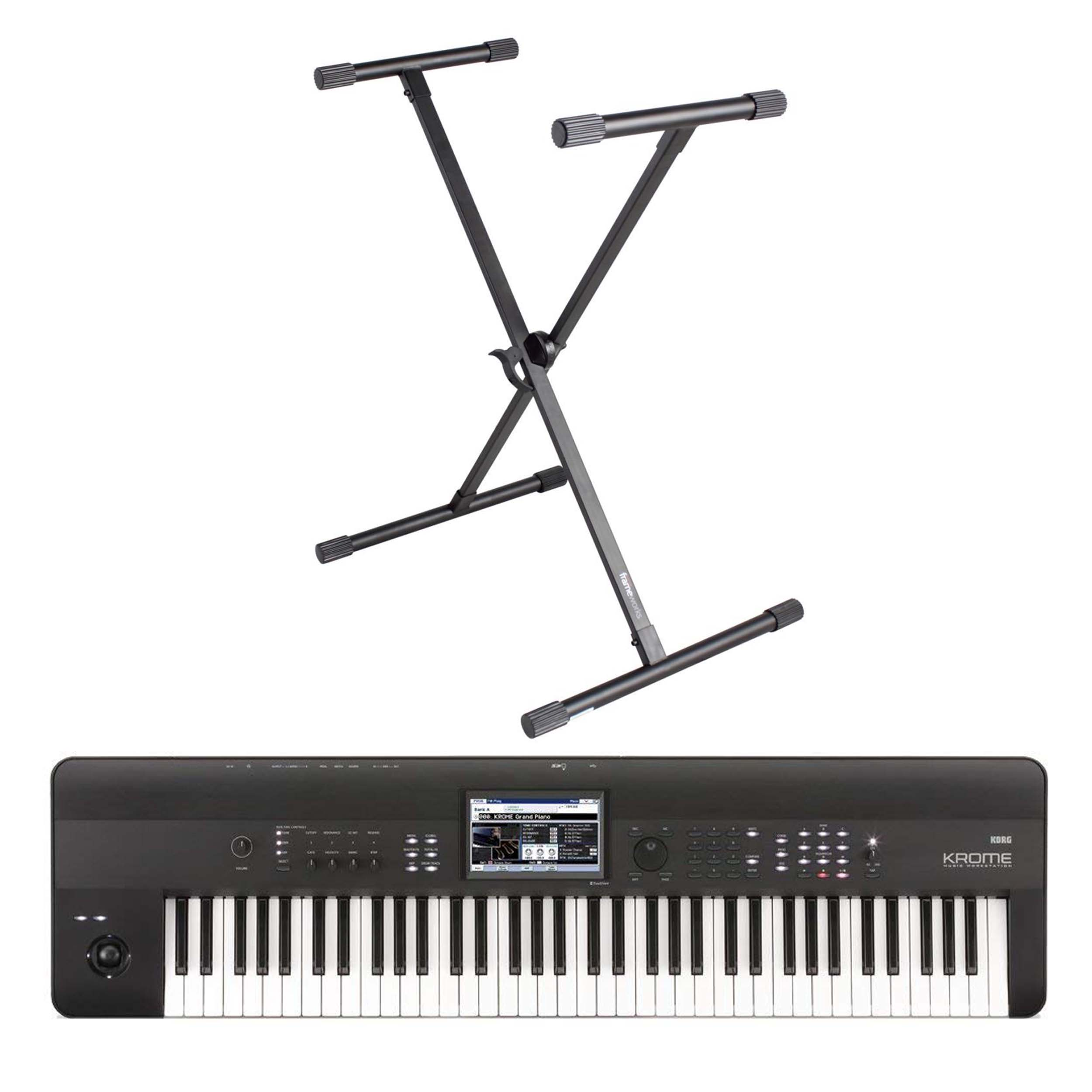 Korg Krome 73 Keyboard 73-Note Workstation with FREE Gator X Stand