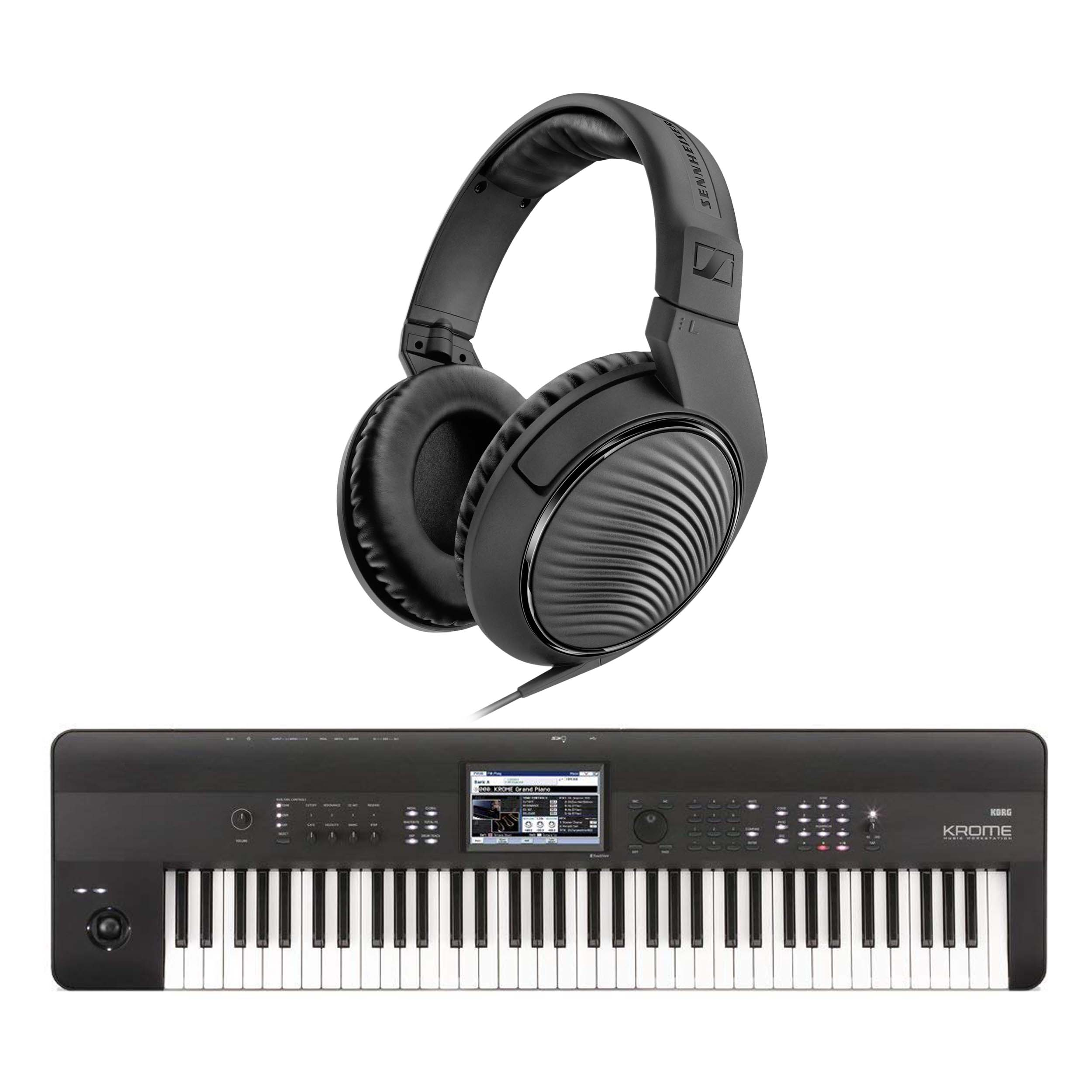 Details about Korg Krome 73 Keyboard 73-Note Workstation with FREE HD200PRO  Headphones