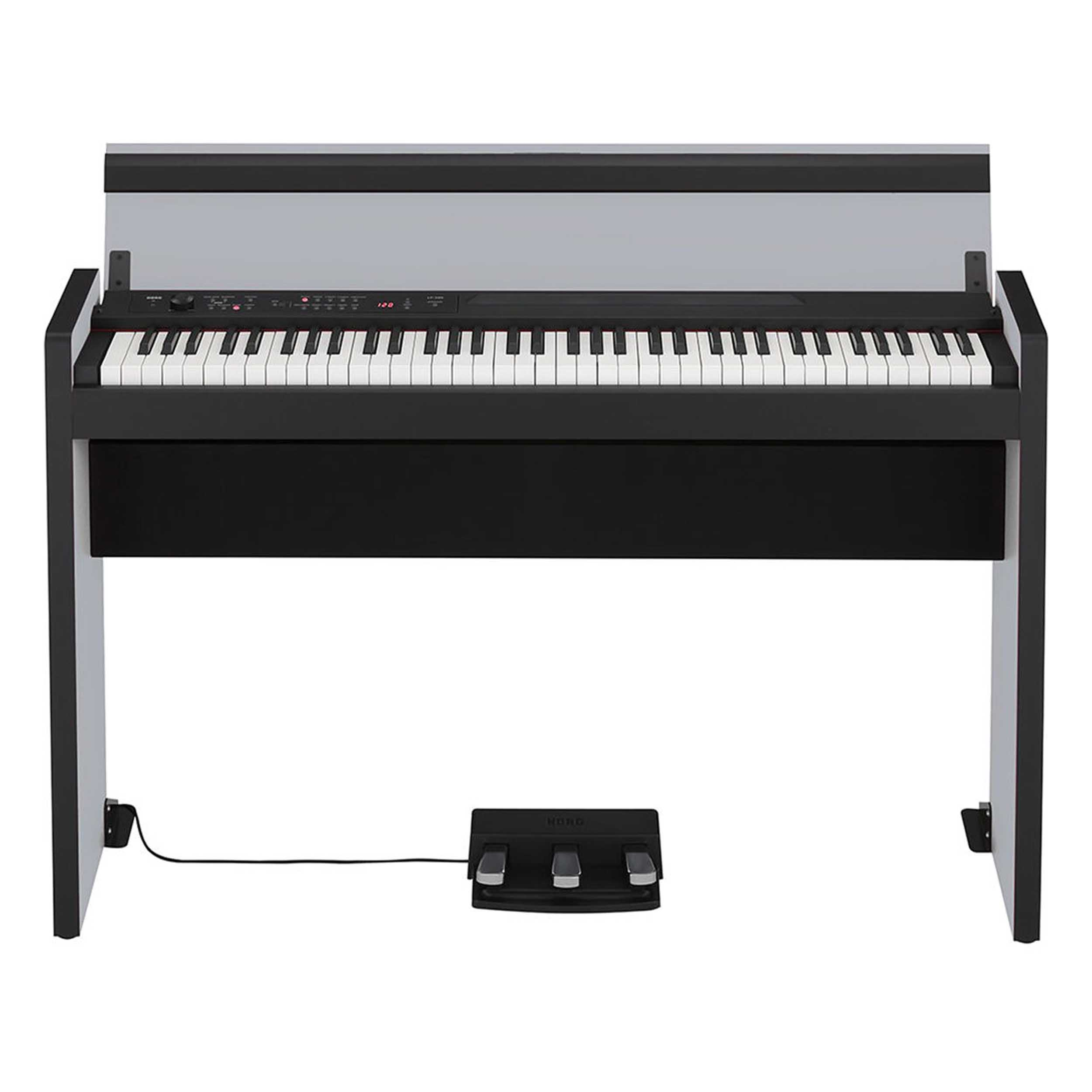 korg lp 380 73 key digital piano in silver black ebay. Black Bedroom Furniture Sets. Home Design Ideas