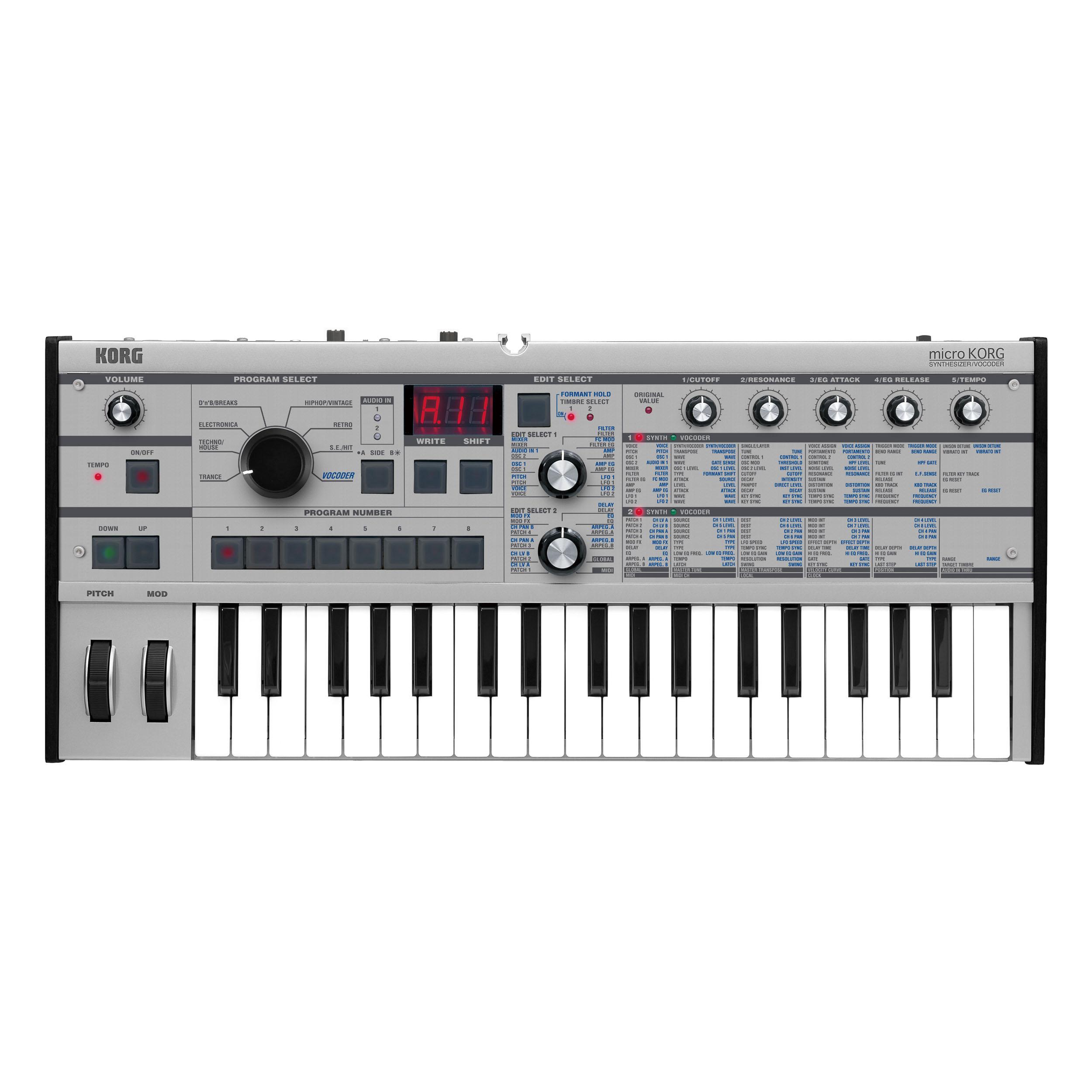 Korg microKORG Synthesizer/Vocoder - Platinum