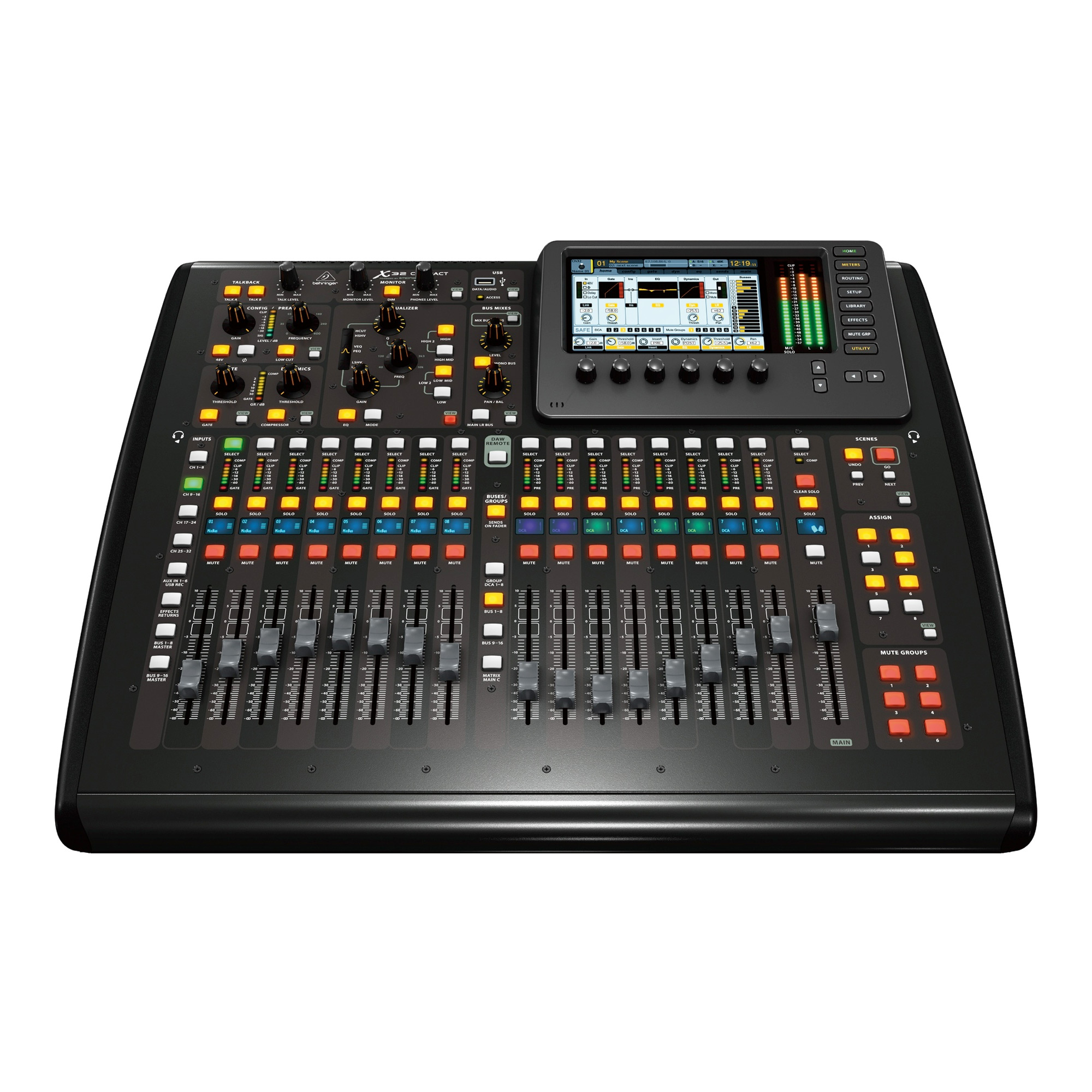 behringer x32 compact tp 40 input 25 bus digital mixing console w touring case 6968590543588 ebay. Black Bedroom Furniture Sets. Home Design Ideas