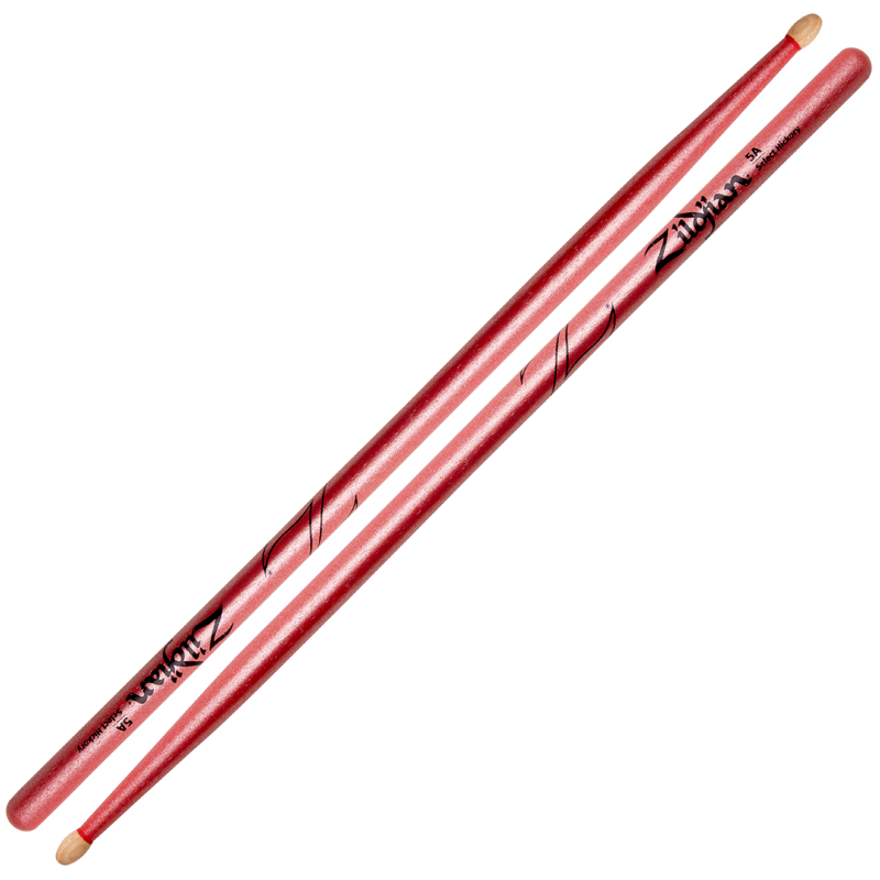 Wood Tip Zildjian Hickory 5A Chroma Pink