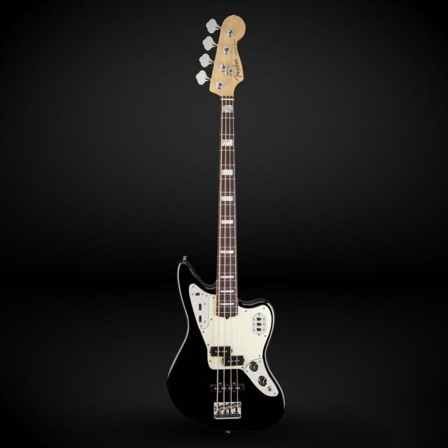 fender american standard jaguar bass rosewood black with. Black Bedroom Furniture Sets. Home Design Ideas