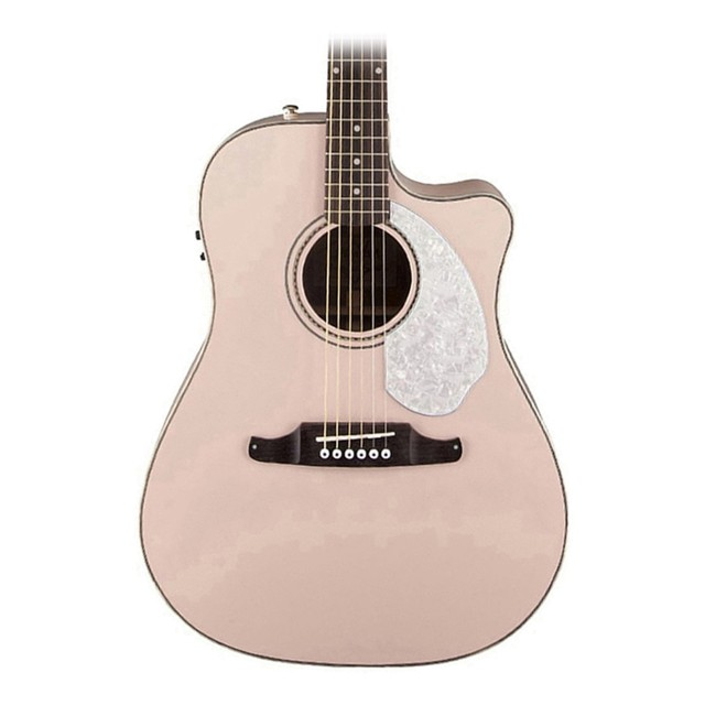 fender sonoran sce acoustic electric shell pink with mat. Black Bedroom Furniture Sets. Home Design Ideas