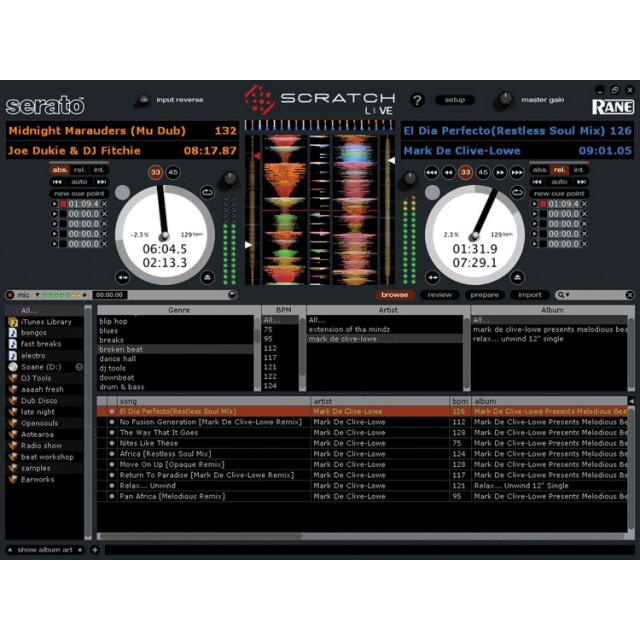 Rane Scratch Live Audio Interface and DJ Software