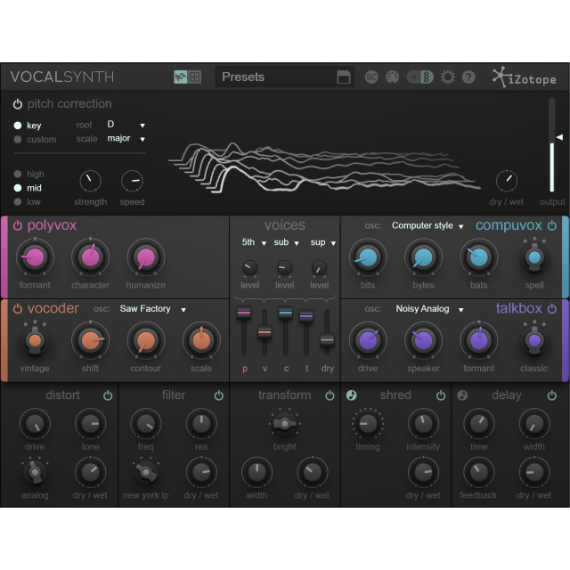 iZotope VocalSynth 2 Vocal Effects Plug-In
