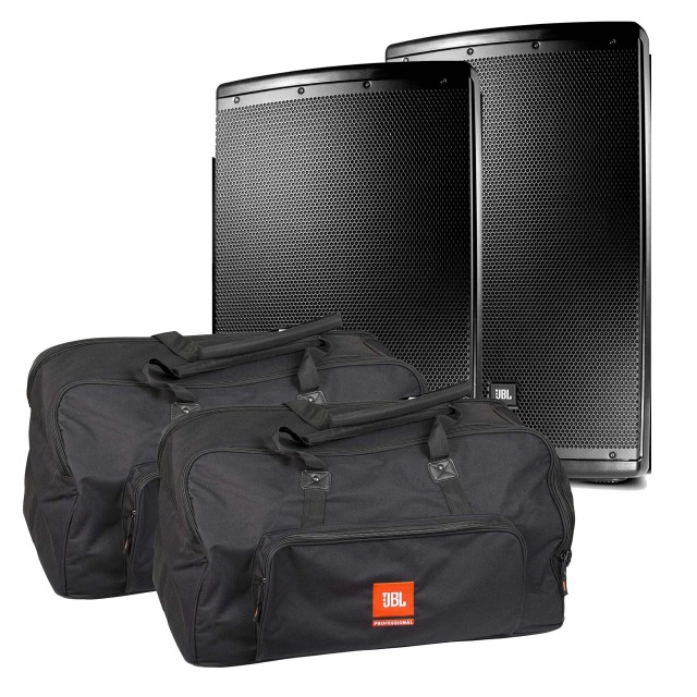 "JBL EON 615 Powered 15"" Two-Way Speaker System Pair With"