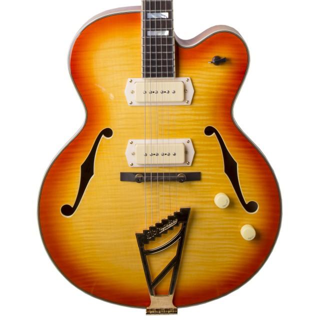 d angelico ex 59 hollow body sunburst electric guitar w