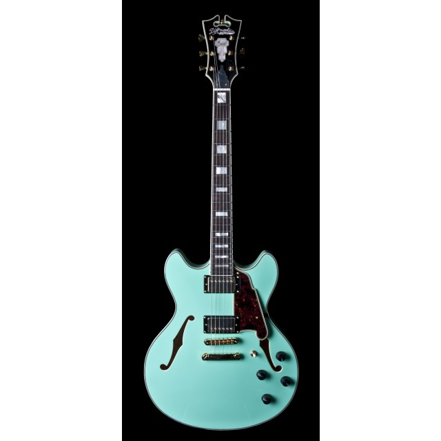d angelico ex dc doublecut semi hollow guitar in surf gr