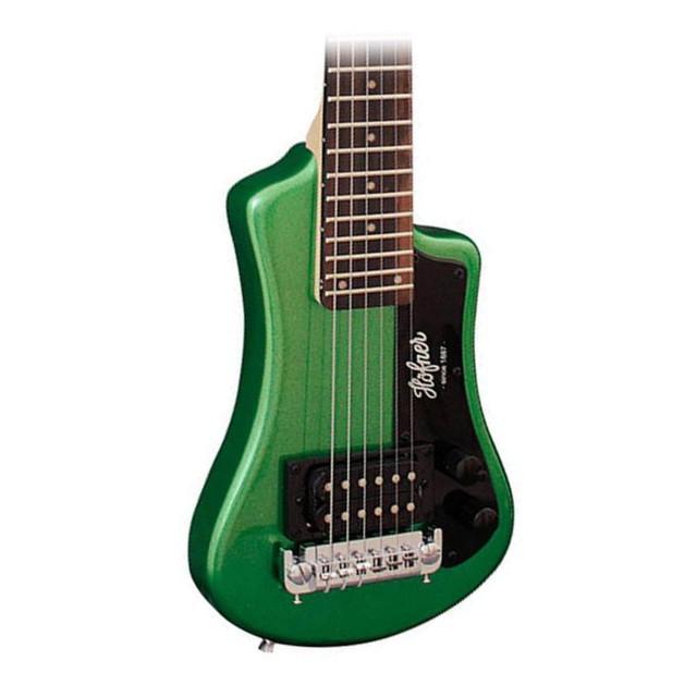 Travel Electric Guitar >> Hofner Shorty Travel Electric Guitar In Green Metallic