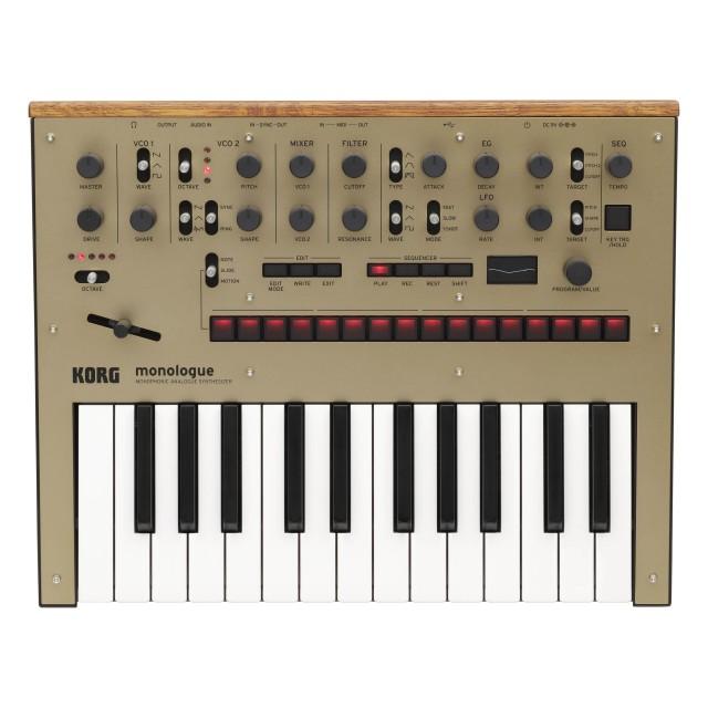 korg monologue analog synthesizer gold. Black Bedroom Furniture Sets. Home Design Ideas