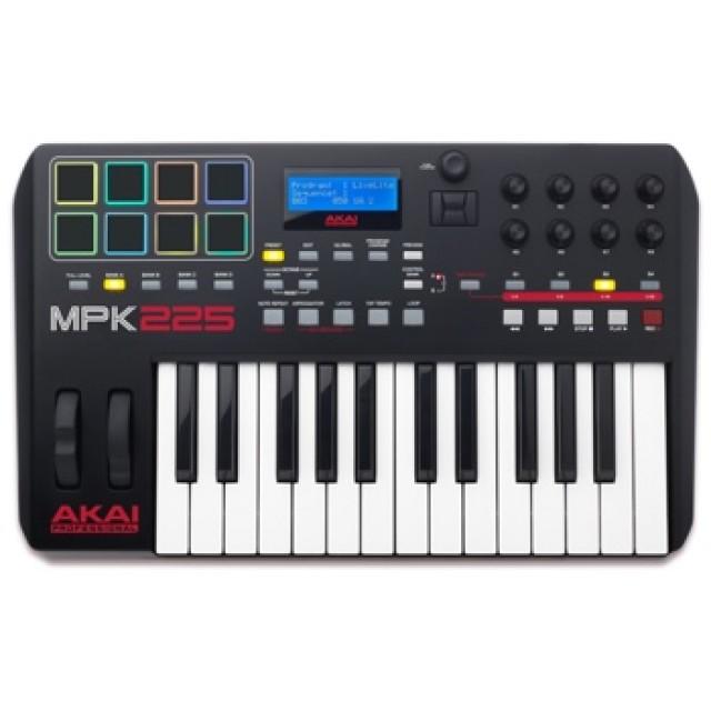 akai mpk 225 25 semi weighted keys midi controller keyboard. Black Bedroom Furniture Sets. Home Design Ideas
