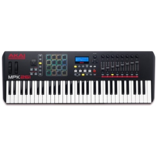 akai mpk261 61 semi weighted keys midi controller keyboard. Black Bedroom Furniture Sets. Home Design Ideas