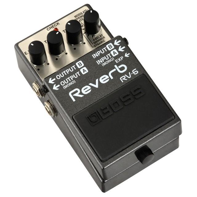 boss rv 6 digital delay reverb guitar effects pedal. Black Bedroom Furniture Sets. Home Design Ideas