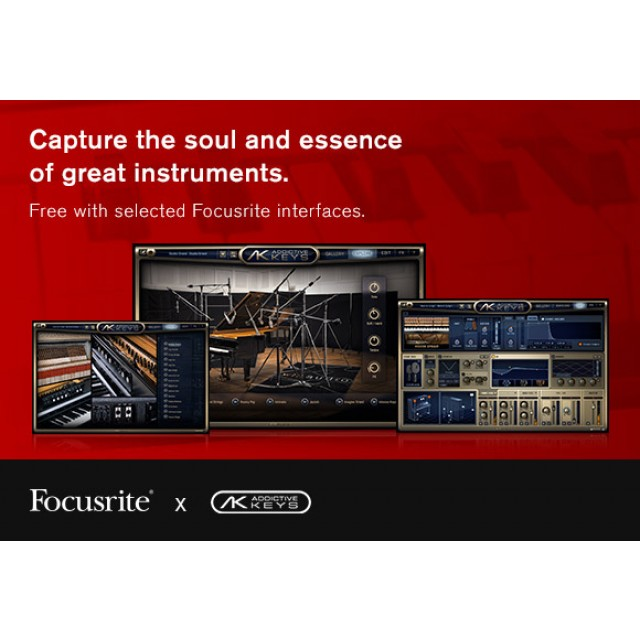 Focusrite Scarlett 18i20 (2nd Gen) w/ Pro Tools 2018 Full Version