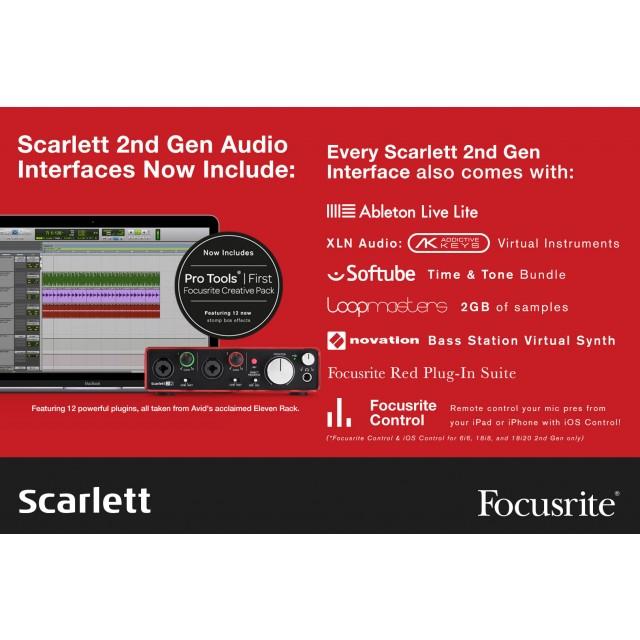 focusrite scarlett 2i2 studio 2nd gen 2 in 2 out usb