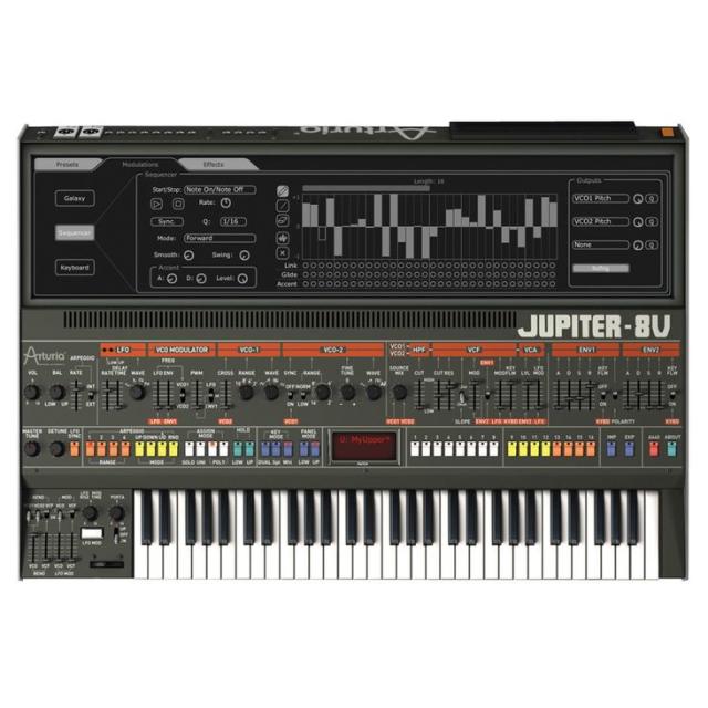 Arturia JUP-8 V (Jupiter 8 Soft Synth)