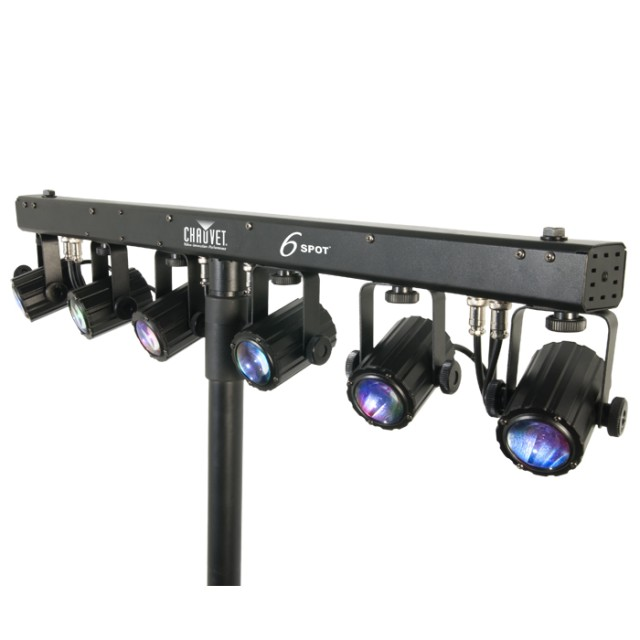 chauvet 6spot led powered color changer system with trav. Black Bedroom Furniture Sets. Home Design Ideas