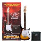 Peavey Raptor Plus Stage Back Guitar Starter Pack in Sunburst