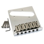 Fender USA Tele Guitar 6 Saddle Bridge Chrome