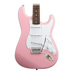 Squier Bullet Strat with Tremolo in Pink