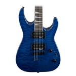 Jackson JS32TQ DKA Dinky String Thru Body Quilt Maple Top Transparent Blue