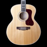 Guild F412 Traditional Series 12-String Jumbo Acoustic Guitar Blonde with DTAR