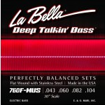 LaBella 760FS-MUS Stainless Steel Flat Wound Bass Strings, Custom