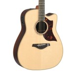 Yamaha A3RHC A Series Acoustic-Electric Folk Guitar Cutaway Natural w/ Case
