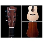 Eastman AC320ce AC/Ele 300-Series Dreadnought Solid Sitka Spruce Top Solid Sapele Back and Sides