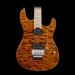 ESP EIIST2QMMTE EII Series ST2 Quilt Maple Top - Tiger Eye w/ Case