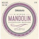 D'Addario EJ70 Mandolin Phospohor Bronze Ball End 11-38