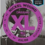 D'Addario EXL156 Nickel Wound Electric Guitar/Nickel Wound Bass Strings, 24-84