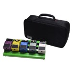 Gator GPB-LAK-GR Small Aluminum Pedal Board with Carry Bag, Green