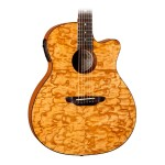 Luna Guitars Gypsy Series Acoustic Electric Quilted Ash
