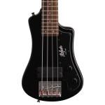 Hofner Shorty Electric Travel Bass - Black w/ Gig Bag