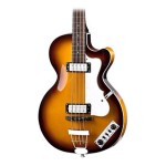 Hofner Ignition Club Bass Singlecut Sunburst with Hardshell Case