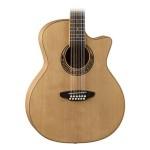 Luna Guitars Muse Acoustic-Electric 12-String Grand Auditorium Guitar - Natural