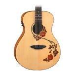 Luna Oracle Rose Acoustic Electric Guitar