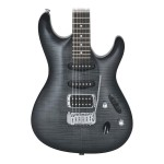Ibanez SA160FMTGB Flame Maple Top Mahogany Body Transparent Gray Burst