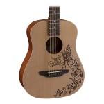 Luna SAF FANTASY Safari Fantasy Travel Guitar with Gig Bag