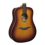 Lag T100DBRS Dreadnought Acoustic Guitar - Brown Shadow Sunburst