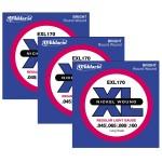 D Addario EXL170 3-Pack of Bass Guitar Strings