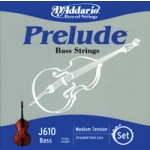 D'Addario J610 Prelude Bass 1/2 Scale String Set