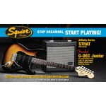 Squier By Fender Affinity Series HSS Stratocaster In Brown Sunburst with Amp
