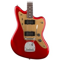 Squier Deluxe Jazzmaster Electric Guitar with Trem in Candy Apple Red