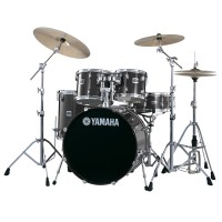 Yamaha Stage Custom Birch 5 Piece Drumset with Hardware In Raven