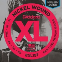 D'Addario EXL157 Nickel Wound Electric Guitar Strings - Baritone Medium, 14-68